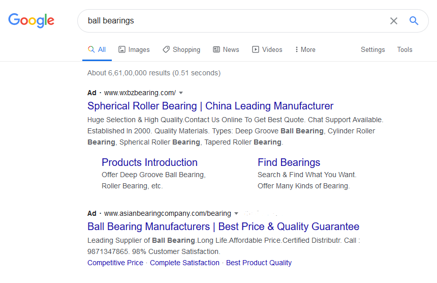 Ball Bearings Search